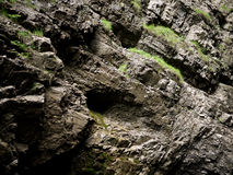 Rock surface of gorge wall Royalty Free Stock Photography