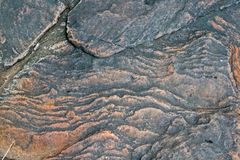 ROCK WITH SWIRLING PATTERN Stock Photo