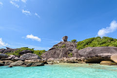 Rock symbol of Similan Islands in Thailand Stock Image
