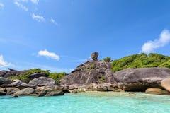 Rock symbol of Similan Islands in Thailand Stock Image
