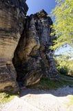 Rock täckas fullständigt med skugga Royaltyfri Foto