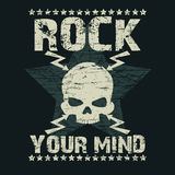 Rock t-shirt Typography Royalty Free Stock Images