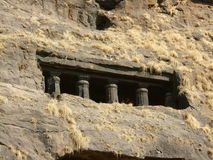 Rock Temple. Buddhist Rock cut temples at Karla Pune India Stock Photos