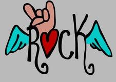 Rock text Royalty Free Stock Photos