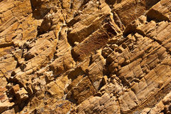 Rock texture. View of the layers of weathered rock Royalty Free Stock Image