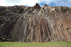 Rock texture. Columnar rock in Porto Santo Island Stock Image