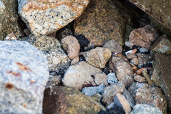 Rock texture in close up Royalty Free Stock Photography