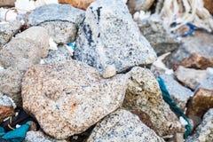 Rock texture in close up Stock Photos