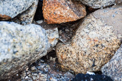 Rock texture in close up Royalty Free Stock Photo