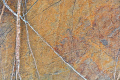 Rock texture. With visible depressions and metal stock image