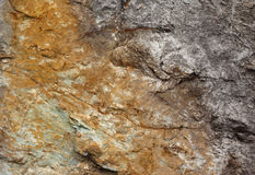 Rock texture, yellow and gray Stock Images