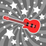 Rock theme. Rock star theme - electric guitar background illustration. Band concept Royalty Free Stock Images