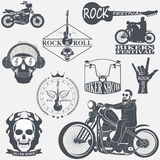 Rock themed badges Royalty Free Stock Photo