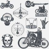 Rock themed badges Royalty Free Stock Photo