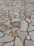 Rock tiled pathway Royalty Free Stock Images