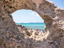 A Rock to the Sea Royalty Free Stock Photos