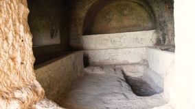 Rock Tomb Phrygia Valley in Turkey stock video footage