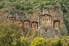 The rock-tombs Stock Photography