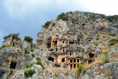 Rock tombs Stock Images