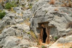 Rock tombs Stock Photo