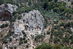 Rock Tombs of Dalyan Royalty Free Stock Photo