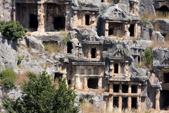 Rock tombs of Demre Myra, Turkey Stock Image