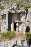 Rock tombs of Demre Myra, Turkey Royalty Free Stock Photo