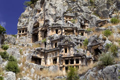 Rock tombs of Demre Myra, Turkey Stock Images