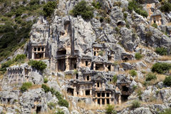 Rock tombs of Demre Myra, Turkey Stock Photo