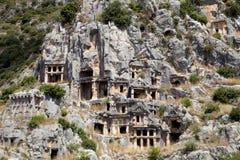 Rock tombs of Demre Myra, Turkey Stock Photo