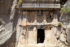Rock tombs of Demre Myra, Turkey Stock Photos
