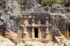 Rock tombs of Demre Myra, Turkey Stock Images