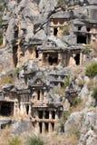 Rock tombs of Demre Myra, Turkey Stock Photos