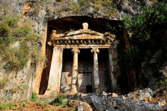 Rock Tombs in Fethiye Royalty Free Stock Photography