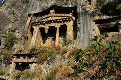Rock Tombs in Fethiye Royalty Free Stock Images
