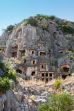 Rock tombs in Myra, Demre, Turkey Royalty Free Stock Image