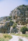 Rock tombs myra turkey Royalty Free Stock Photography