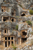 Rock tombs, Myra, Turkey Royalty Free Stock Images