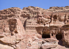 The rock tombs in Petra Royalty Free Stock Photo