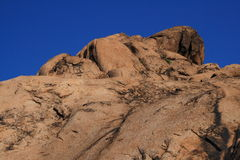 ROCK ON THE TOP OF MOUNTAIN Royalty Free Stock Photography