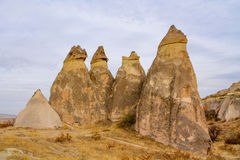 Rock towers in Cappadocia Stock Photos