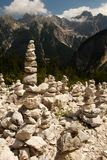 Rock towers slovenia stock photography