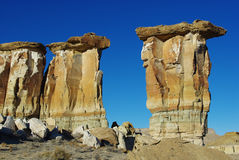 Rock towers, Utah. Rock towers and walls in canyon valley near Big Water, Utah Stock Photos