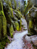 Rock Town Adrspach, National Park, Czech Republic. National Park - Adrspach-Teplice Rocks, Rock Town. Czech Republic Royalty Free Stock Photo