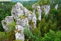Rock Town in Hruboskalsko in Bohemian Paradise Stock Photography