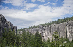 Rock Town, National Park of Adrspach-Teplice in Czech Republic, royalty free stock images