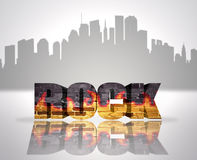 Rock in town Stock Images