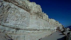 Rock trail in Aktau. New trail along the rocks in Aktau.Coast of the Caspian Sea.Kazakhstan stock footage