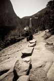 Rock trail in Yosemite Royalty Free Stock Photography