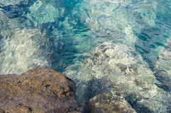 Rock and transparent turquoise water Stock Photography